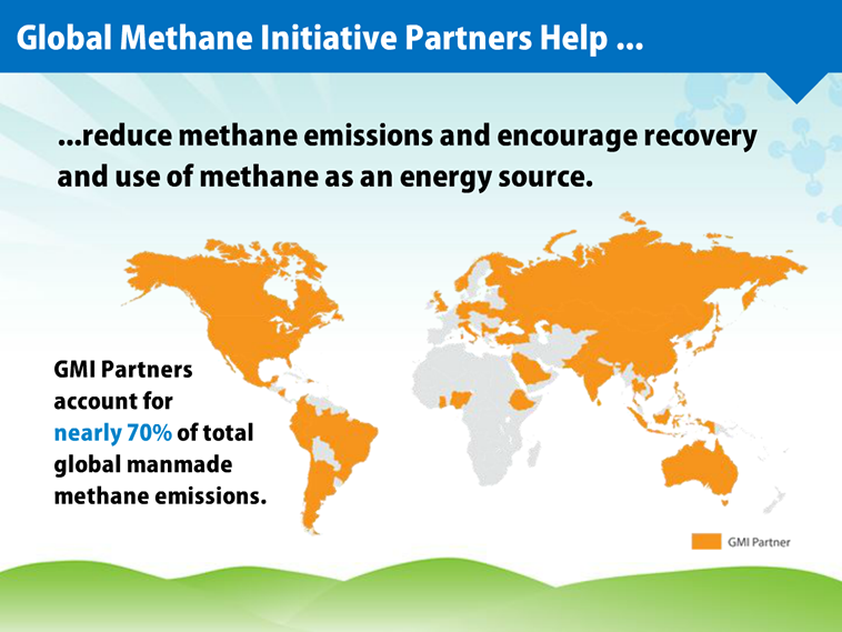 GMI Partners help reduce methane emissions and encourage recovery and use of methane as an energy source