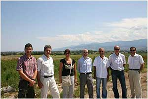 Tom Frankiewicz, of the U.S. EPA's LMOP, at the Plovdiv Landfill with representatives from the Municipality of Plovdiv.