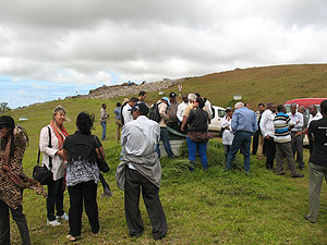 Workshop attendees tour Mare Chicose Landfill during the site visit day in Flic en Flac, Mauritius.