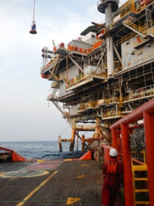Star Energy's KF oil and gas production platform, Natuna Sea, Indonesia.