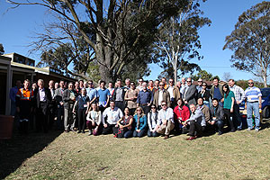 Participants after Appin WCMG power station and WestVAMP site tour in Sydney, Australia.